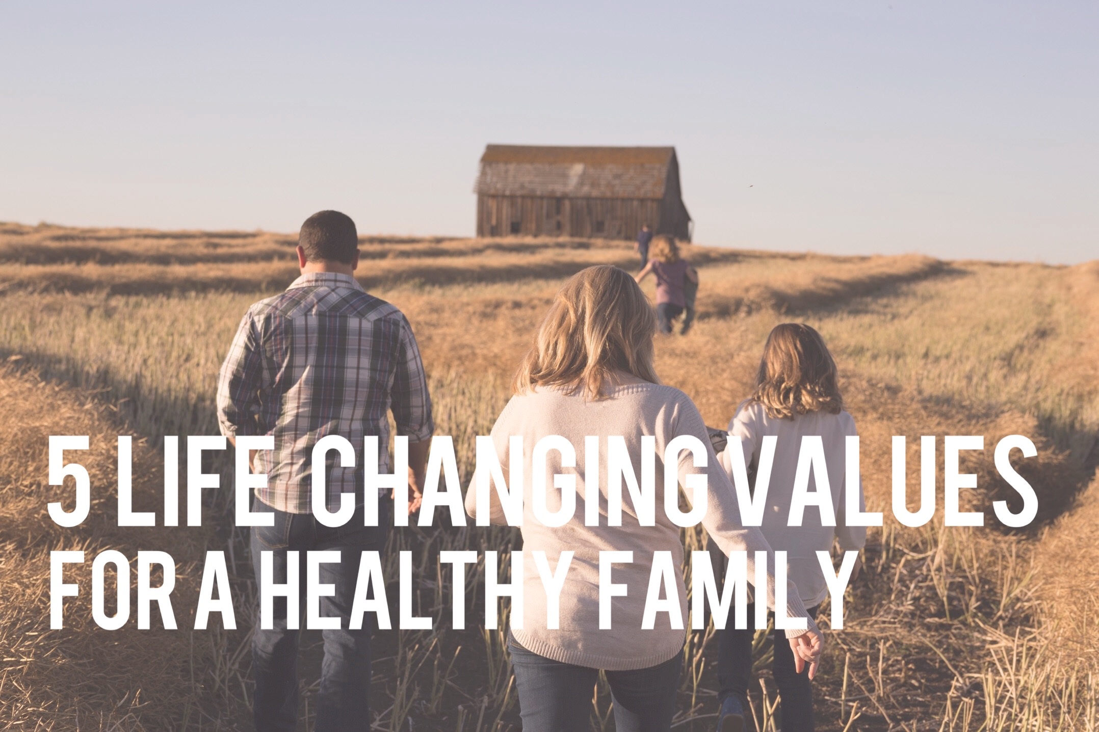 5 Life Changing Values For a Healthy Family